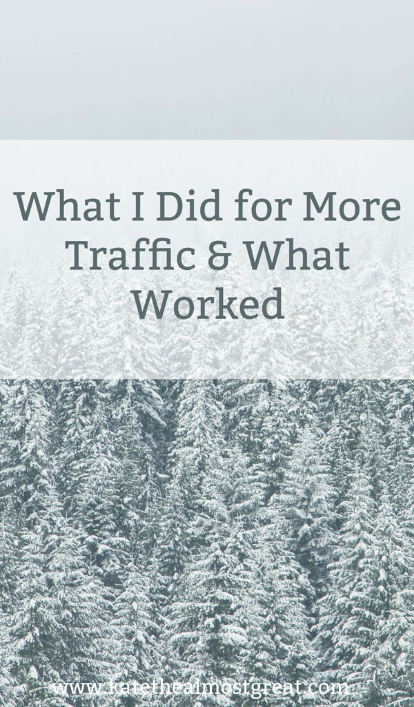 What I did to grow blog traffic in December, what worked, and what didn't.