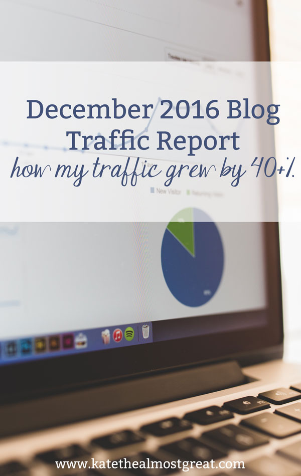 Sharing what I did that grew my blog traffic by over 40% in December, including the posts that were the most popular.
