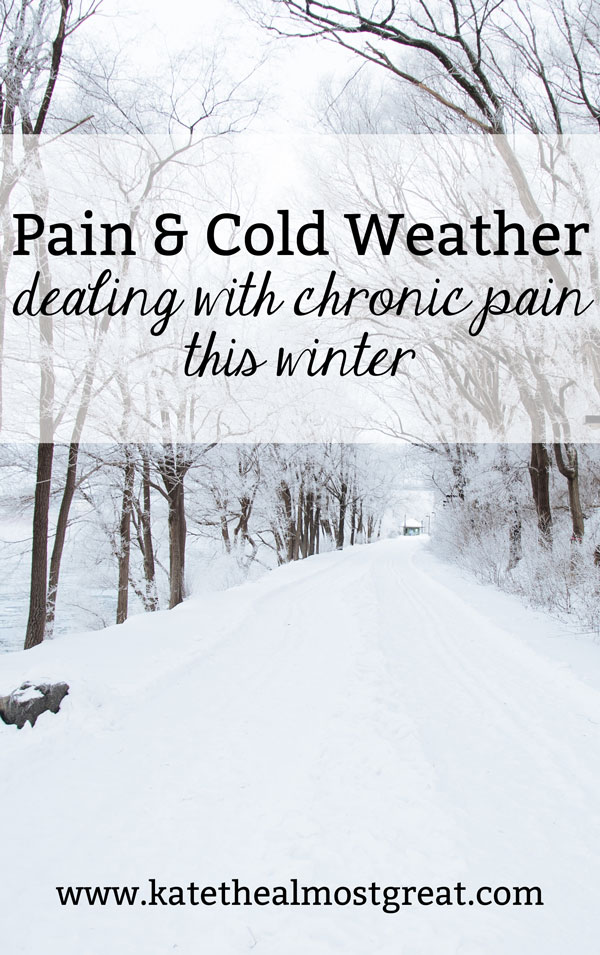 As we get into the meat of winter, people all across the world who live with chronic pain may experience a worsening of symptoms. Click to read about things you can do to help your pain and still live your life.