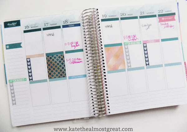 How I use my Erin Condren life planner, including the various ways how to use the weekly layout.