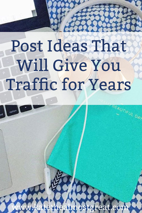 Sharing the blog post ideas that have given me traffic for years, so you can grow your blog one popular post at a time.