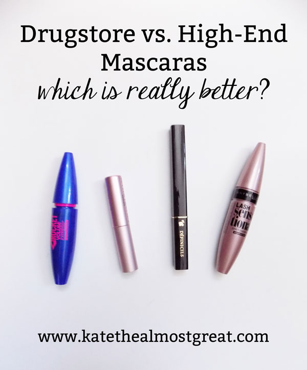 Ever wonder what's the best drugstore mascara and how it compares to the best high-end mascara? I'm sharing the best mascaras I've tried and how they compare to one another so you can be prepared before you spend money on a mascara that you won't like.