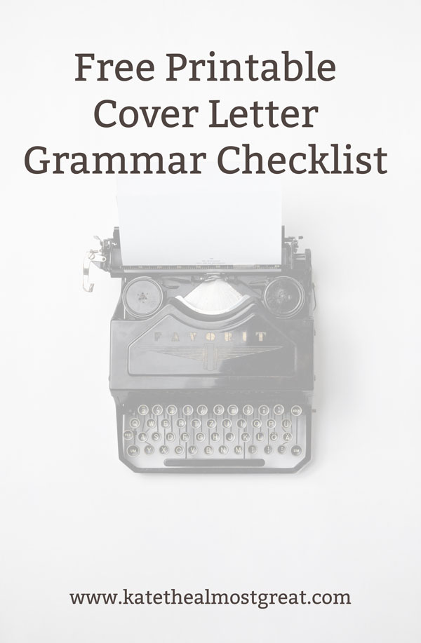 Free checklist to help you improve your cover letter writing
