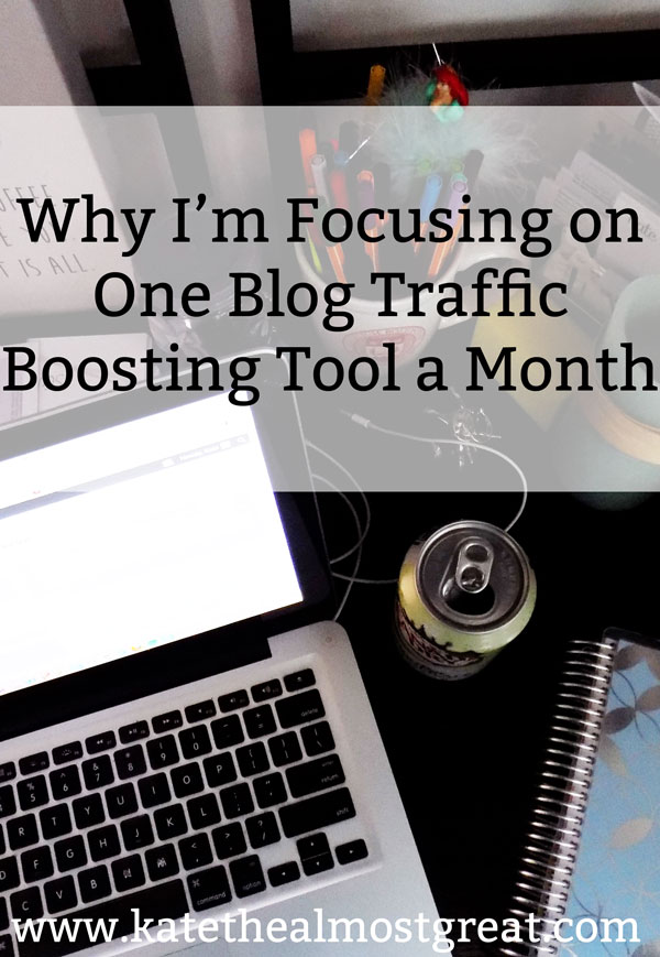 This year, I'm focusing on one specific tool per month to grow my blog traffic. Here's why I'm doing that and what I've gained from it so far.