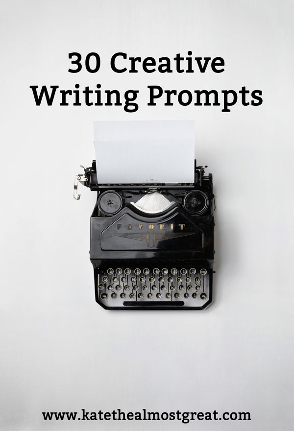 Whether you have writer's block of you're just trying to do some writing practice, these 30 creative writing prompts will help get your creative juices flowing.