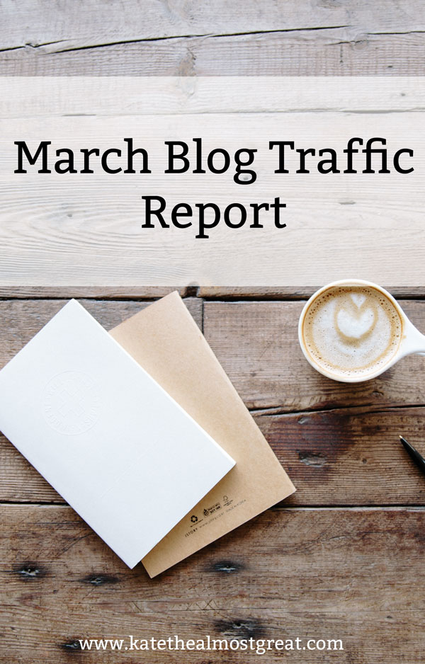 What happened to my blog traffic in March, what I did, what helped, what hurt, and what you can learn from me.