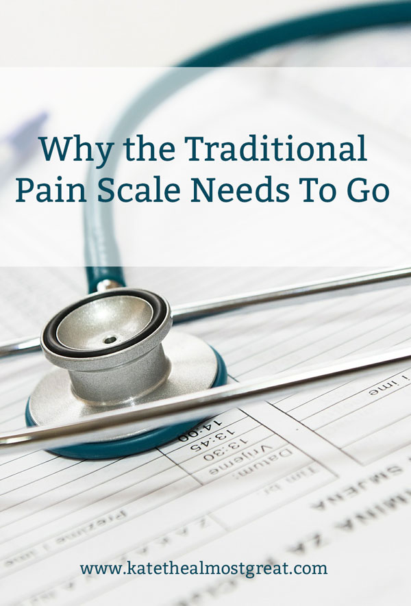 The traditional pain scale asks patients to number their pain out of 10, but that isn't a great descriptor for the pain itself. Here's why the traditional pain scale needs to go and where we can go from here.