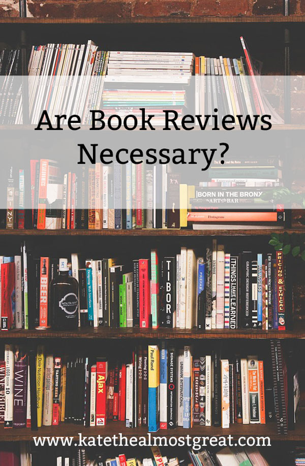 Whether you're a reader or a writer, book reviews are an important part of buying and selling books. But are they really necessary?