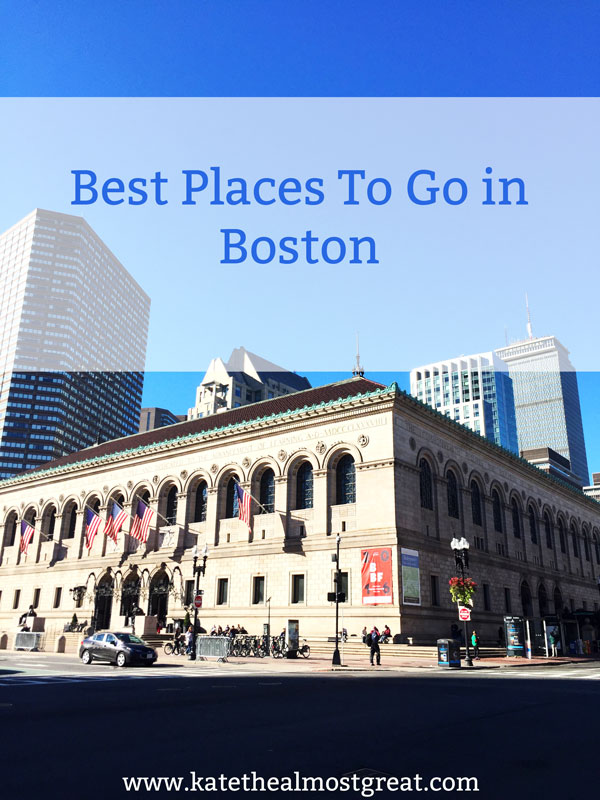 Whether you're planning a trip to Boston or just looking for things to do, check out this list of places to go and things to do in Boston. The list includes neighborhoods, museums, things to do, and, of course, where to eat.