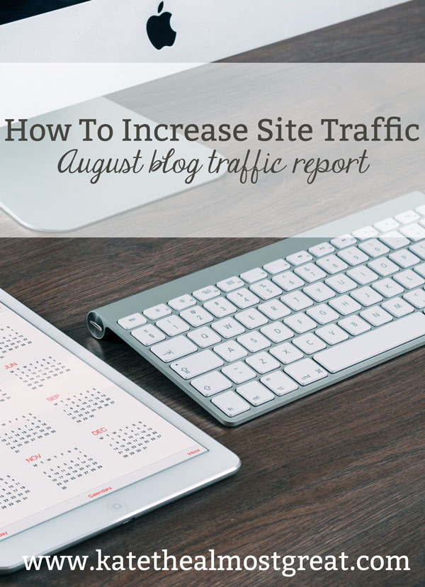 Today I'm sharing the tips and tricks I used to increase site traffic by 30% in August. If you want to know what I did, what worked, and what didn't, be sure to check out this post!