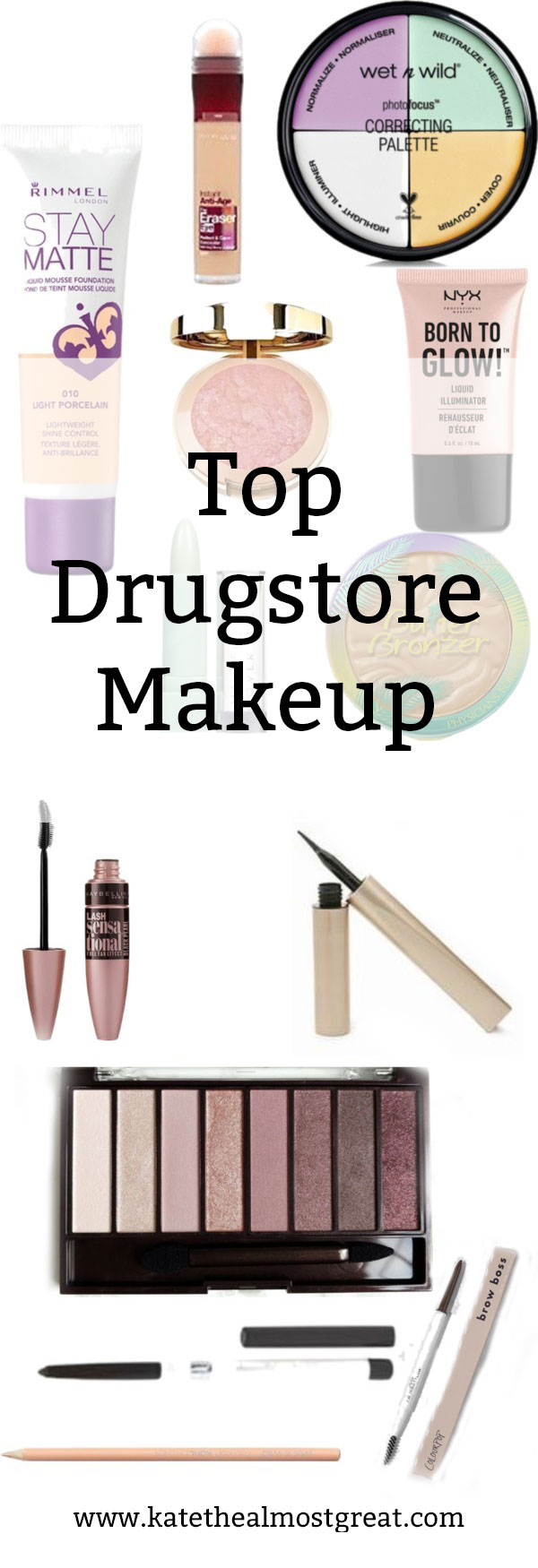 I'm sharing the top drugstore makeup out there! Get your full face done without spending hundreds of dollars on it.