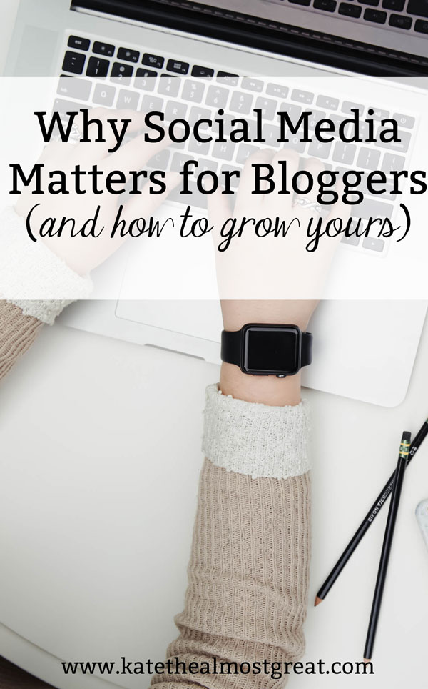 If you're a blogger, you've probably heard that having social media networks is really important. But why is this? I'm breaking it down and also showing you how you can grow your social media, too.