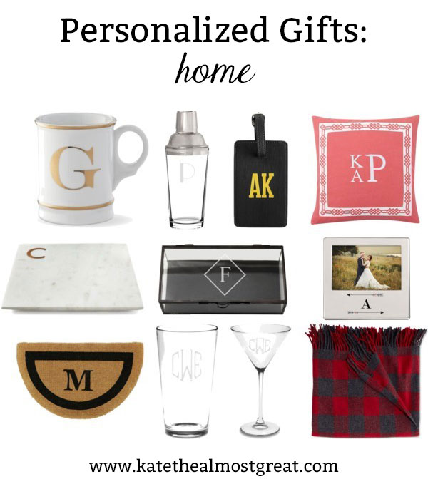 Looking for a unique personalized gift for the people in your life? Check out these monogrammed items for the home! But make sure you order them soon so there is plenty of time for them to arrive.