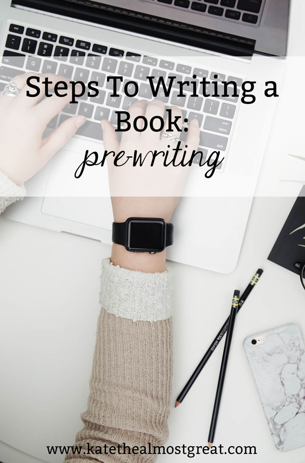 When you write a book, it's important to do some pre-writing. This is the process of getting all of you notes, research, outline, and more together. Out of all the steps to writing a book, this is an often over-looked but super necessary step!