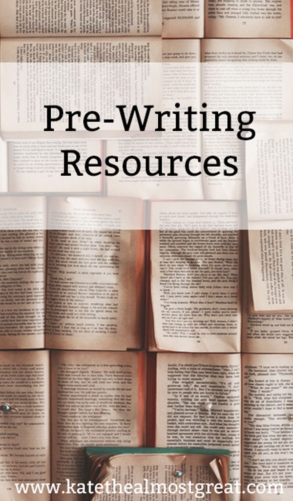 Thinking of writing a book? One of the important steps is pre-writing, and I'm sharing my personal pre-writing process as well as a lot of different resources to help you get ready to write your awesome book.