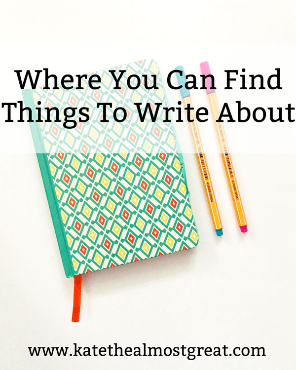 Want to write but don't know what to write about? Check out these six places where you can find story ideas, plus tips to help you get out of a writing rut.