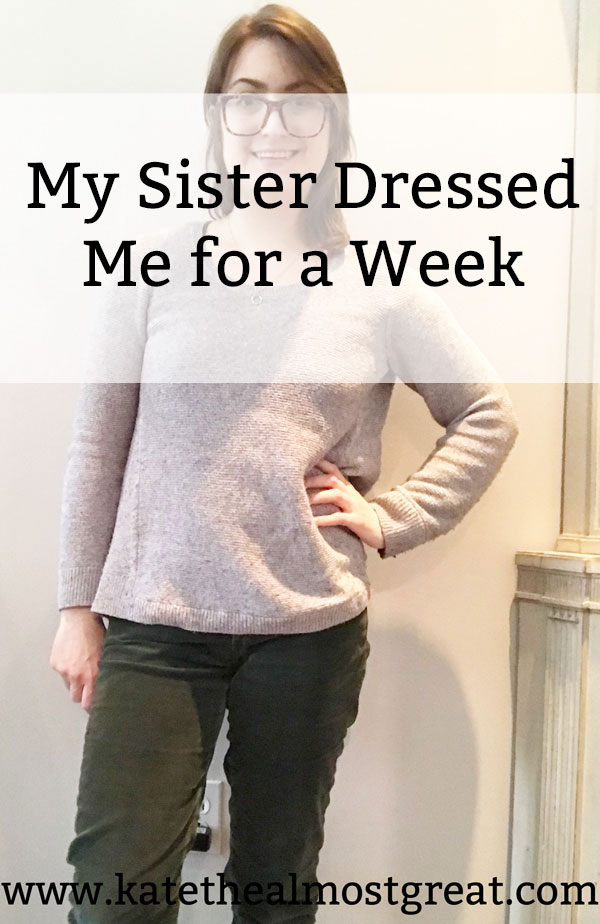 I thought it would be fun to do a little experiment: I asked my little sister to dress me for a week. Here are all the outfits she picked and what I thought about them.