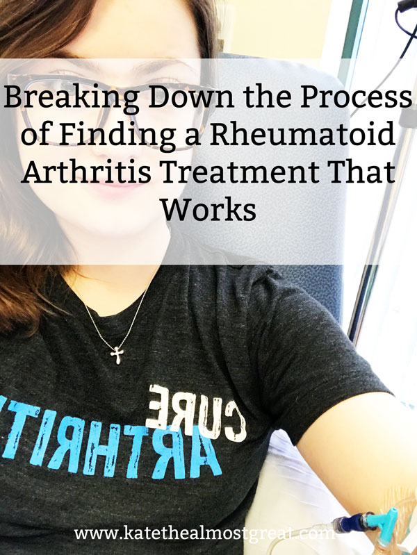 Finding a rheumatoid arthritis treatment that works can be tricky. I'm breaking down what the process can look like and what did and didn't work for me so you can get an idea of what's available and what finding a treatment can look like.