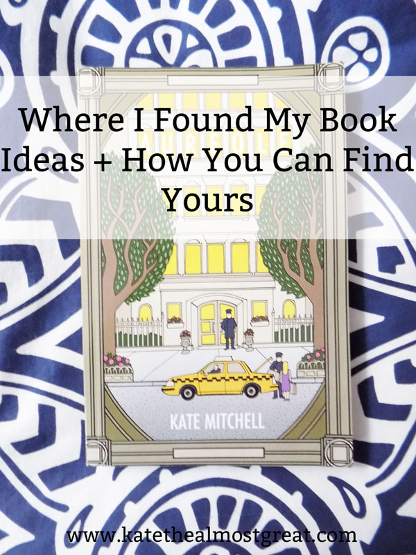 "I'm working on my third novel and I'm not yet 30, so I'm regularly asked, ""Where did you find your book ideas?"" Today I'm sharing just that, as well as tools to help you find outs and awesome resources for writing books."