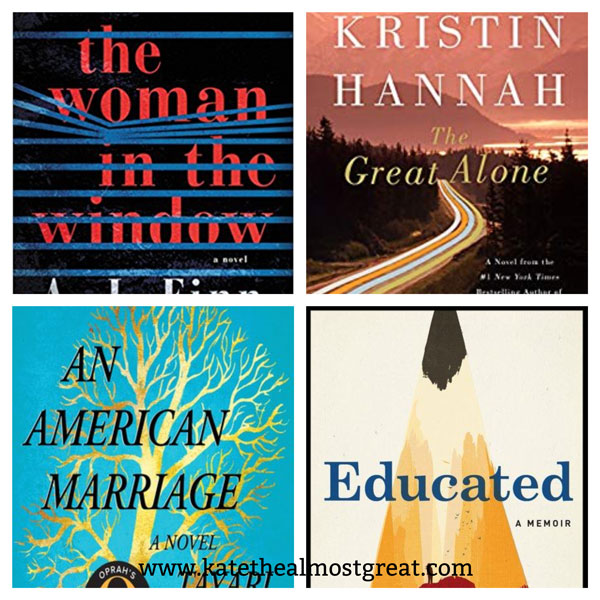 most popular books published in 2018, most popular books of 2018, the woman in the window, the great alone, an american marriage, educated: a memoir, books to read, book recommendations, books, fiction, memoir, 2018 books