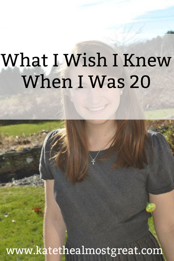Sharing what I wish I knew when I was 20. I've learned a lot in the last 7 years, and I hope that this helps you!