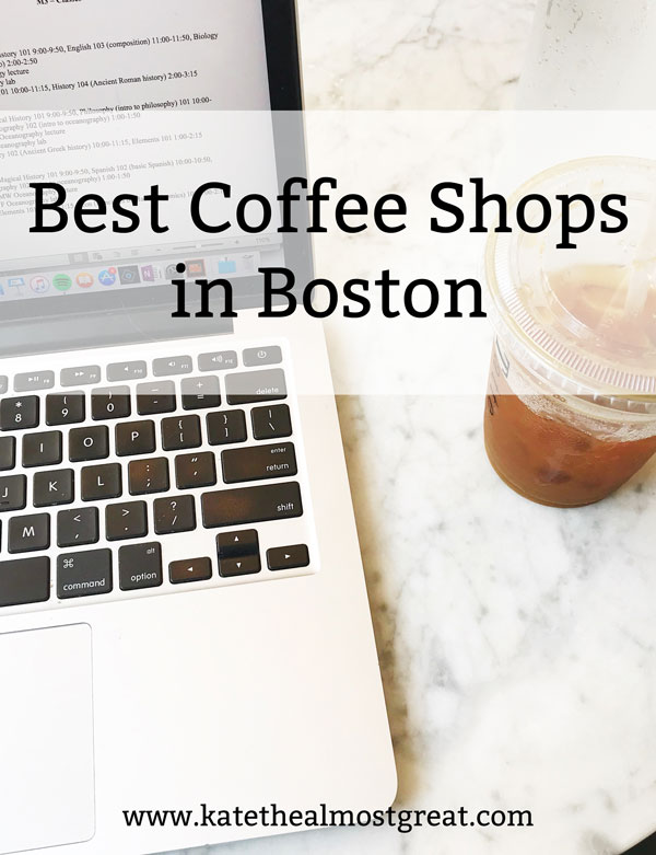 Whether you live in Boston or you're visiting, you're probably going to stop for coffee somewhere. But where? Here Boston resident and blogger Kate the (Almost) Great shares the best coffee shops in Boston in her opinion, as well as those rated as the best by Boston Magazine.