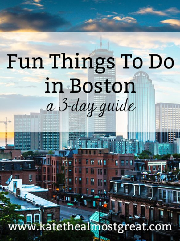Whether you live in Boston or are visiting for a weekend, there's plenty to do in this New England city. Boston lifestyle blogger Kate the (Almost) Great breaks down a 3-day travel guide to Boston full of fun things to do in Boston.