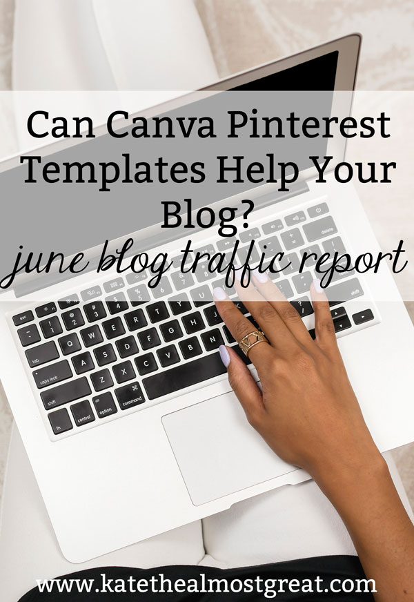 Boston lifestyle blogger Kate the (Almost) Great tried using Canva Pinterest templates to see if they would help her blog traffic. Here are the results and her thoughts about it.