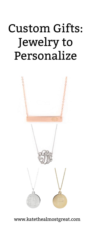 custom gifts, custom Christmas gifts, custom Hanukkah gifts, custom jewelry, personalized jewelry, custom jewelry, personalized jewelry, monogrammed jewelry, monogram jewelry