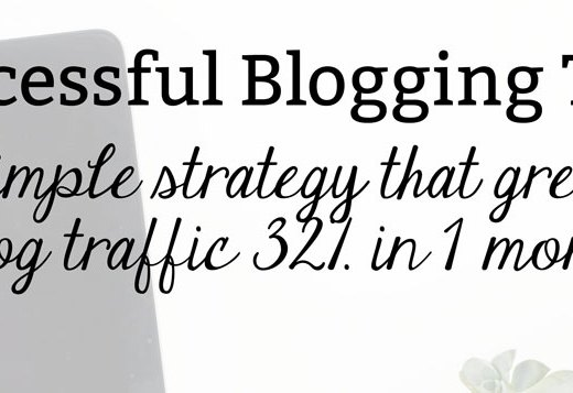 Successful Blogging Tips: How My Blog Traffic Grew by 32% in 1 Month