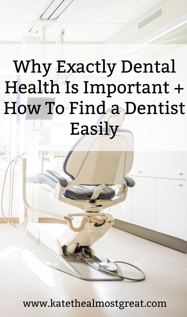 Dental health is extremely important, and not just for cosmetic reasons. In this post, I explain other reasons why you need to see a dentist at least twice a year, as well as how to find, afford, and pay for a dentist easily.