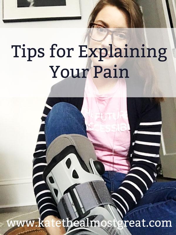 describing pain levels, chronic pain, chronic illness, describing pain, how to describe pain, explaining pain, how to explain pain, rheumatoid arthritis, RA, arthritis, rheum, fibromyalgia, fibro, endo, endometriosis