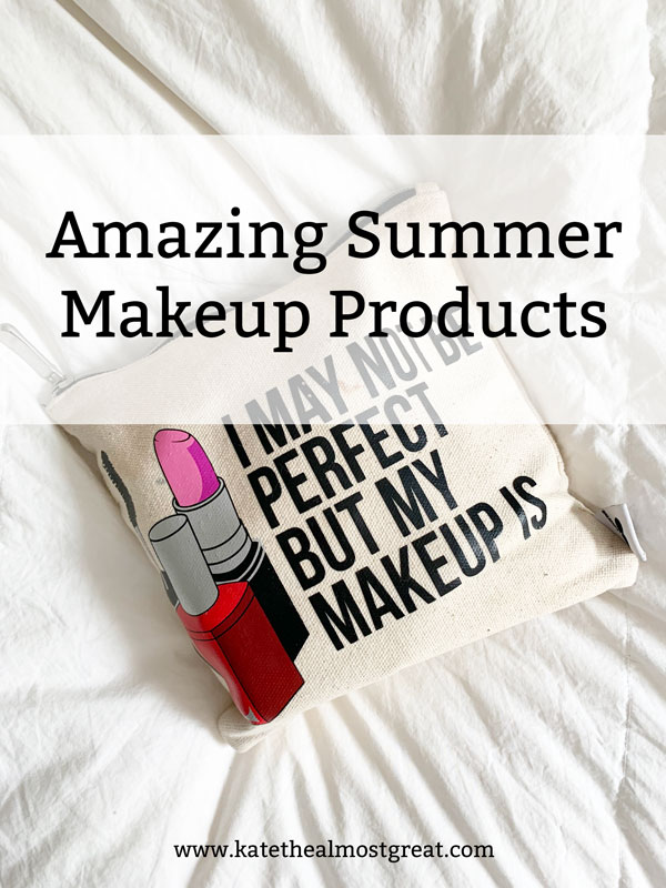 With the weather getting nicer and warmer, it's time to ditch the foundation and heavier makeup. I love makeup, though, so I'm still wearing. some. In this post, I'm sharing the amazing summer makeup products that I absolutely love.