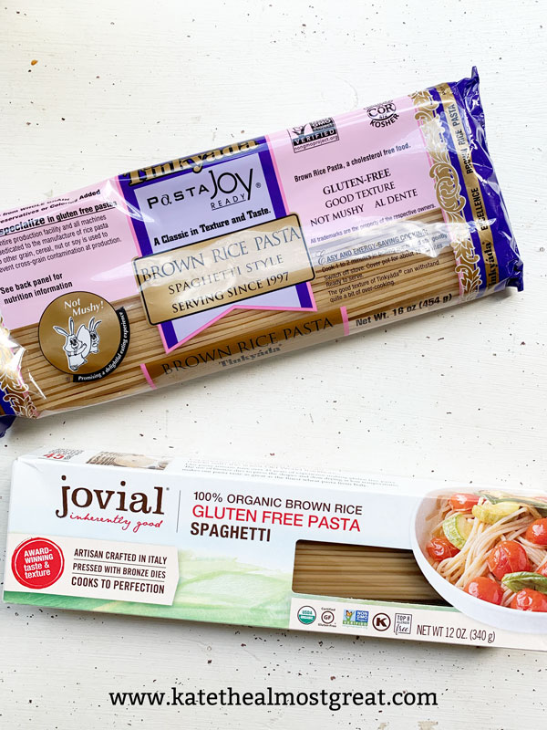 gluten-free pasta, gluten free pasta, pasta substitute, food substitutes, rice pasta, best rice pasta