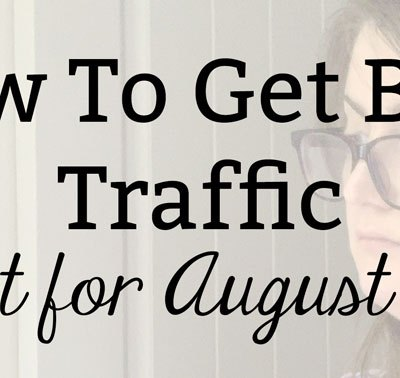 How To Get Blog Traffic: Report for August 2020