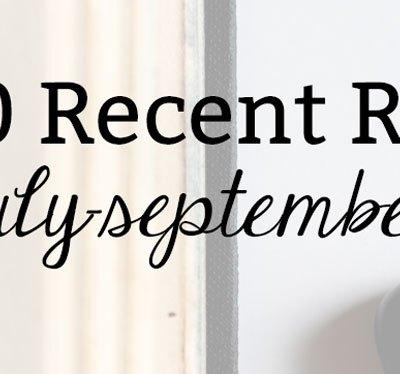 2020 Recent Reads: July-September