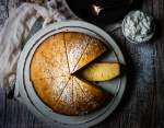 Simply dusted with a little powdered sugar, this olive oil cake is the perfect breakfast treat.