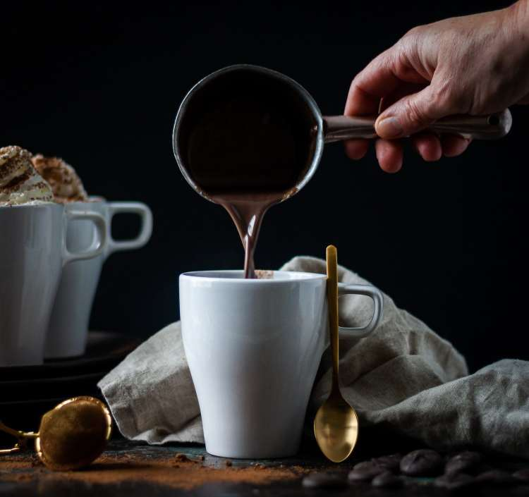 Rich and decadent tahini hot chocolate recipe you will love.