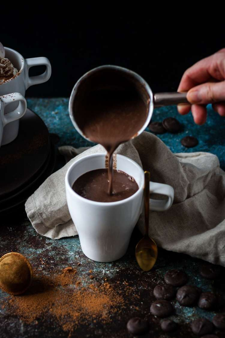 Tahini hot chocolate recipe