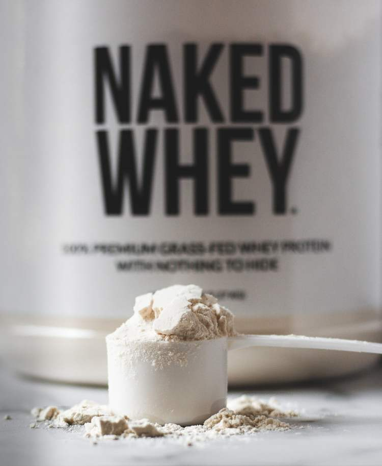 Naked Nutrition's Grass Fed Whey Protein powder is perfect for this chocolate cherry protein smoothie.
