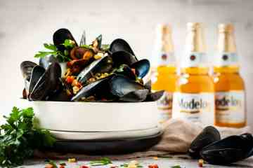 A fresh take on steamed mussels