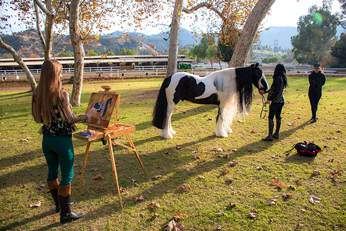 plain air painting gypsy horse los angeles