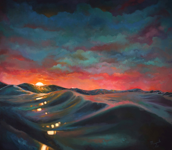 Sunset, Impressionistic, Ocean, Waves, Sun, Art, Artwork, Painting, Original, Oil, Realistic, Painting For Sale, Sold, Fine Art, Buy A Painting, Wall Art, Gift, Christmas, Artist, Painting Art, Portrait Artist, Portrait, Contemporary Painting, Painting Gallery, Custom Art, Custom Paintings, Nature, Water, Usa, America, American Art, Animals, Animal, Blue, Kate Tova Artist, Canvas, Christmas, Gift, Anniversary, New Year, Birthday Present, Unique, Exclusive, Expensive, Luxurious, Living Room, Guestroom, Kate Tova, Wedding Gift, Valentines Day Gift, Hand Painted, Art For Dining Room, Guest Room, Living Room, Bedroom, Canvas Print, Print, Painting On Canvas