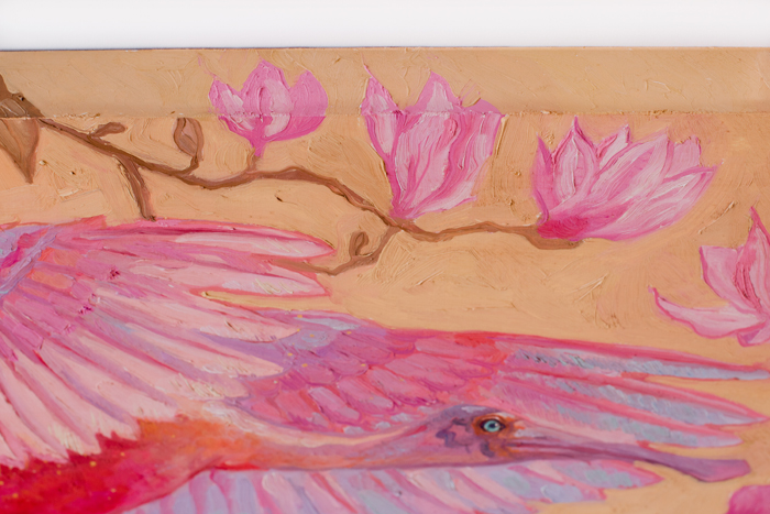 oil painting,pink spoonbill, spoonbill, magnolias, pink, art, bird, birds, oil on canvas, artwork, painting, original, realistic, painting for sale, sold, fine art, buy a painting, wall art, gift, christmas, artist, equine art, equine artist, contemporary painting, painting gallery, painting, custom art, custom paintings, nature, animals, animal, usa, america, american art, blue, turquoise, Kate Tova artist, christmas, gift, anniversary, new year, birthday present, unique, exclusive, expensive, luxurious, living room, guestroom, Kate Tova, wedding gift, Valentines day gift, hand painted, art for dining room, guest room, living room, bedroom, print