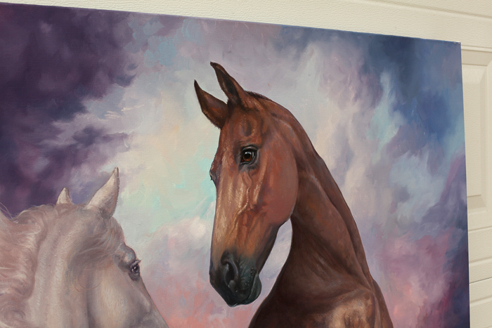 oil painting, falling horse, horses, love, white horse, gray horse, flying, bay horse, jump, equine art, Purple, Sky, Two Horses, Traditional, Clouds, Hoses, Landscape, Large, Perlino, Love, Mountains, Beautiful, Purple, Blue, Surrealism, clouds, Fight Or Flight, Falling, Fog, Foggy, Horse, Luxury, Beautiful, Portrait, Realism, Realistic, original, oil, realistic, impressionistic, painting for sale, sold, fine art, buy a painting, wall art, gift, christmas, artist, painting art, portrait artist, portrait, contemporary painting, painting gallery, custom art, custom paintings, usa, america, american art, red, Kate Tova artist, canvas, christmas gift, anniversary, new year, birthday present, unique, exclusive, expensive, luxurious, living room, guestroom, Kate Tova, wedding gift, Valentines day gift, hand painted, art for dining room, guest room, living room, bedroom, canvas print, print, painting on canvas