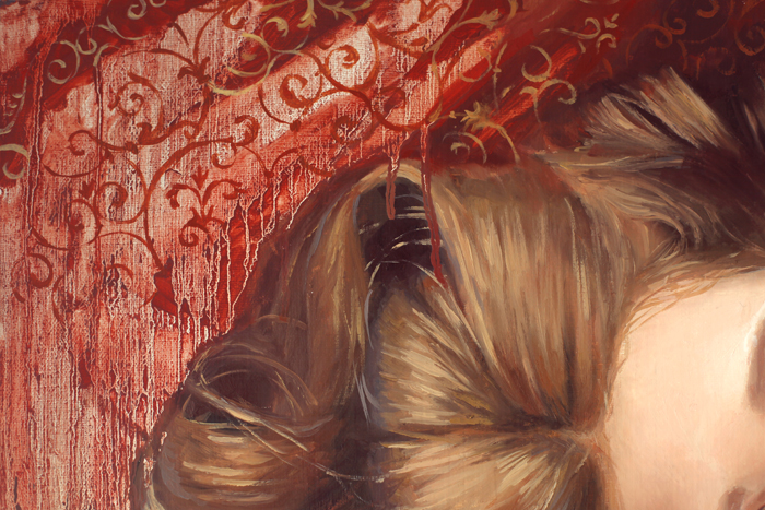 art, artwork, painting, woman portrait, woman laying, top view, eye, original, oil, realistic, impressionistic, painting for sale, sold, fine art, buy a painting, wall art, gift, christmas, artist, painting art, portrait artist, portrait, contemporary painting, painting gallery, custom art, custom paintings, usa, america, american art, red, Kate Tova artist, canvas, christmas gift, anniversary, new year, birthday present, unique, exclusive, expensive, luxurious, living room, guestroom, Kate Tova, wedding gift, Valentines day gift, hand painted, art for dining room, guest room, living room, bedroom, canvas print, print, painting on canvas