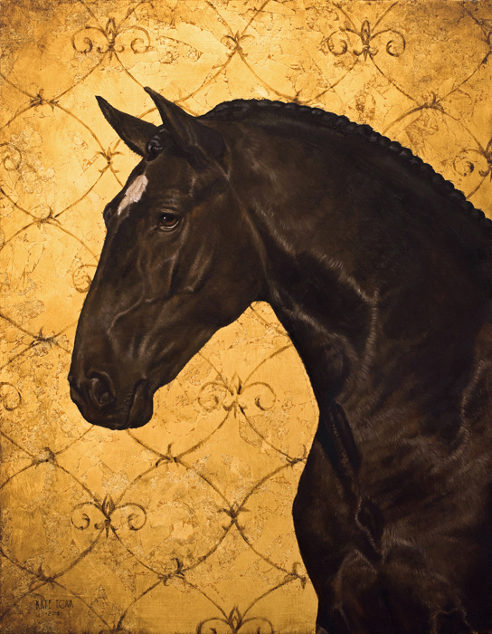 Art, Artwork, Oil Painting, Spanish Horse, Lusitano, Black Horse, Horse, Gold, Oil On Gold Leaf, Gold Leaf, Realistic, Impressionistic, Painting For Sale, Sold, Fine Art, Buy A Painting, Wall Art, Gift, Christmas, Artist, Painting Art, Portrait Artist, Portrait, Contemporary Painting, Painting Gallery, Custom Art, Custom Paintings, Usa, America, American Art, Red, Kate Tova Artist, Canvas, Christmas Gift, Anniversary, New Year, Birthday Present, Unique, Exclusive, Expensive, Luxurious, Living Room, Guestroom, Kate Tova, Wedding Gift, Valentines Day Gift, Hand Painted, Art For Dining Room, Guest Room, Living Room, Bedroom, Canvas Print, Print, Painting On Canvas, Gift For Horse Lover, Equine, Equine Art