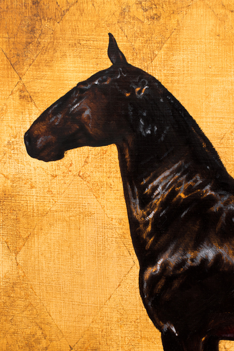art, artwork, oil painting, Spanish horse, lusitano, black horse, horse, gold, oil on gold leaf, gold leaf, realistic, impressionistic, painting for sale, sold, fine art, buy a painting, wall art, gift, christmas, artist, painting art, portrait artist, portrait, contemporary painting, painting gallery, custom art, custom paintings, usa, america, american art, red, Kate Tova artist, canvas, christmas gift, anniversary, new year, birthday present, unique, exclusive, expensive, luxurious, living room, guestroom, Kate Tova, wedding gift, Valentines day gift, hand painted, art for dining room, guest room, living room, bedroom, canvas print, print, painting on canvas, gift for horse lover, equine, equine art, red, ruby