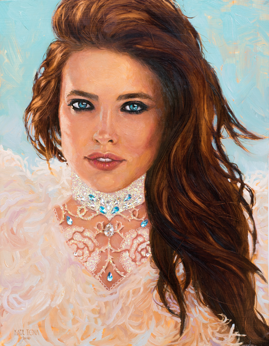 Art, Artwork, Painting, Woman Portrait, Eyes, Original, Oil, Gold, Gold Leaf, Realistic, Impressionistic, Painting For Sale, Sold, Fine Art, Buy A Painting, Wall Art, Gift, Christmas, Artist, Painting Art, Portrait Artist, Portrait, Contemporary Painting, Painting Gallery, Custom Art, Custom Paintings, Usa, America, American Art, Red, Kate Tova Artist, Canvas, Christmas Gift, Anniversary, New Year, Birthday Present, Unique, Exclusive, Expensive, Luxurious, Living Room, Guestroom, Kate Tova, Wedding Gift, Valentines Day Gift, Hand Painted, Art For Dining Room, Guest Room, Living Room, Bedroom, Canvas Print, Print, Painting On Canvas, Art For Sale, Usa, Feathers, Fashion, Art For Sale, Usa, Blue