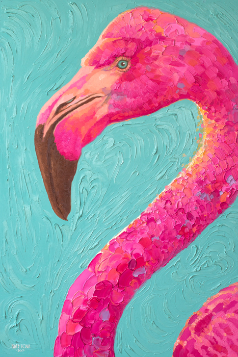 Oil Painting,pink Flamingo, Flamingos, Flamingo, Art, Bird, Birds, Oil On Canvas, Artwork, Painting, Original, Realistic, Painting For Sale, Sold, Fine Art, Buy A Painting, Wall Art, Gift, Christmas, Artist, Equine Art, Equine Artist, Contemporary Painting, Painting Gallery, Painting, Custom Art, Custom Paintings, Nature, Animals, Animal, Usa, America, American Art, Blue, Turquoise, Kate Tova Artist, Christmas, Gift, Anniversary, New Year, Birthday Present, Unique, Exclusive, Expensive, Luxurious, Living Room, Guestroom, Kate Tova, Wedding Gift, Valentines Day Gift, Hand Painted, Art For Dining Room, Guest Room, Living Room, Bedroom, Print